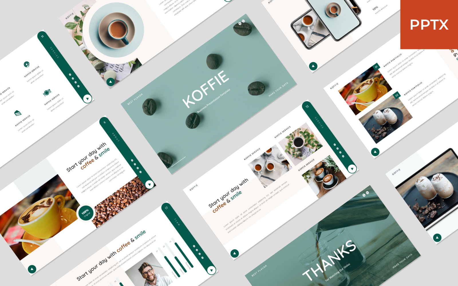 Koffie - Coffee Presentation PowerPoint Template