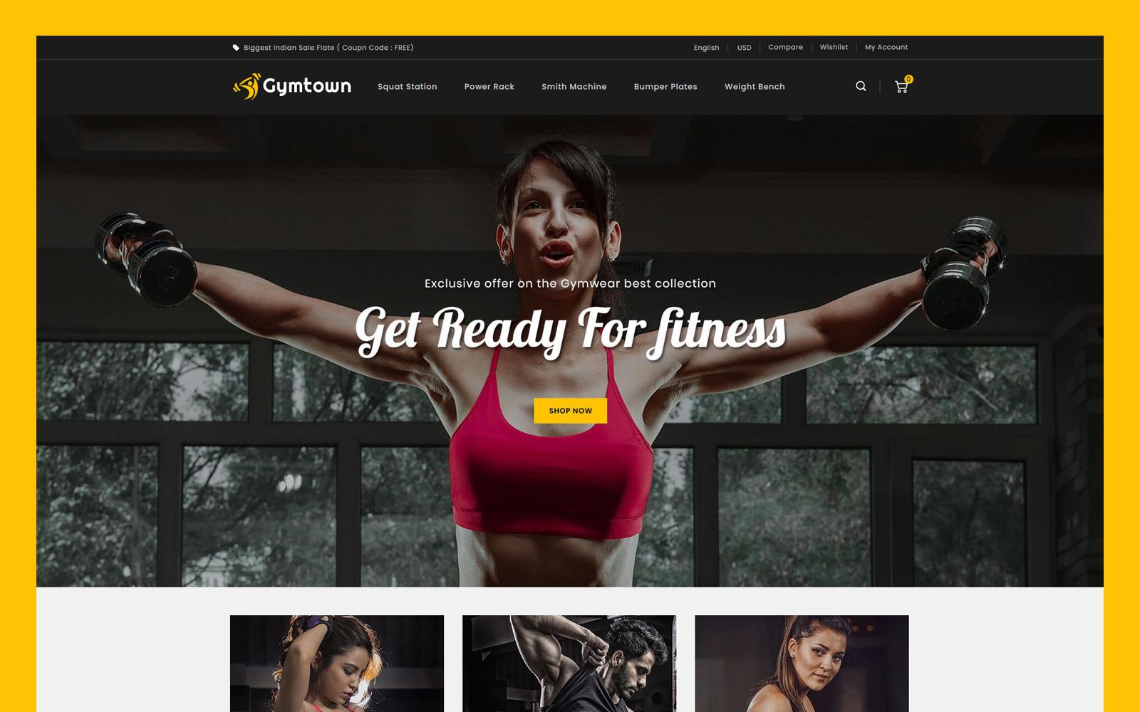 Gymtown - Fitness Store PrestaShop Theme