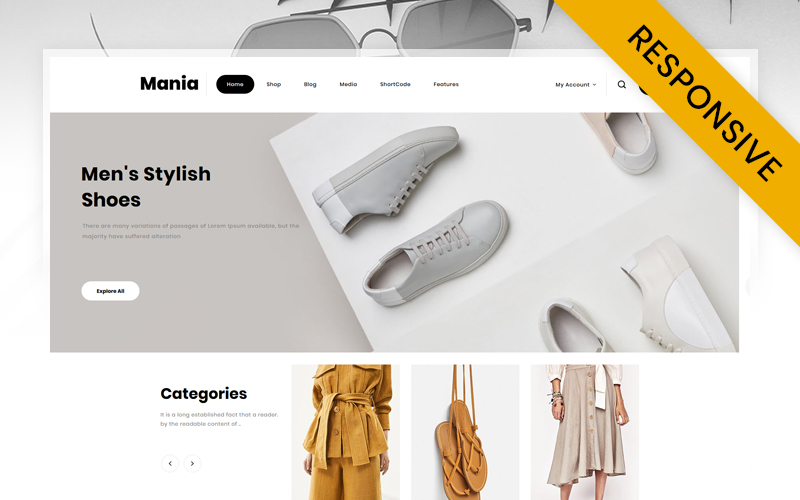 Mania - Online Fashion Store WooCommerce Theme