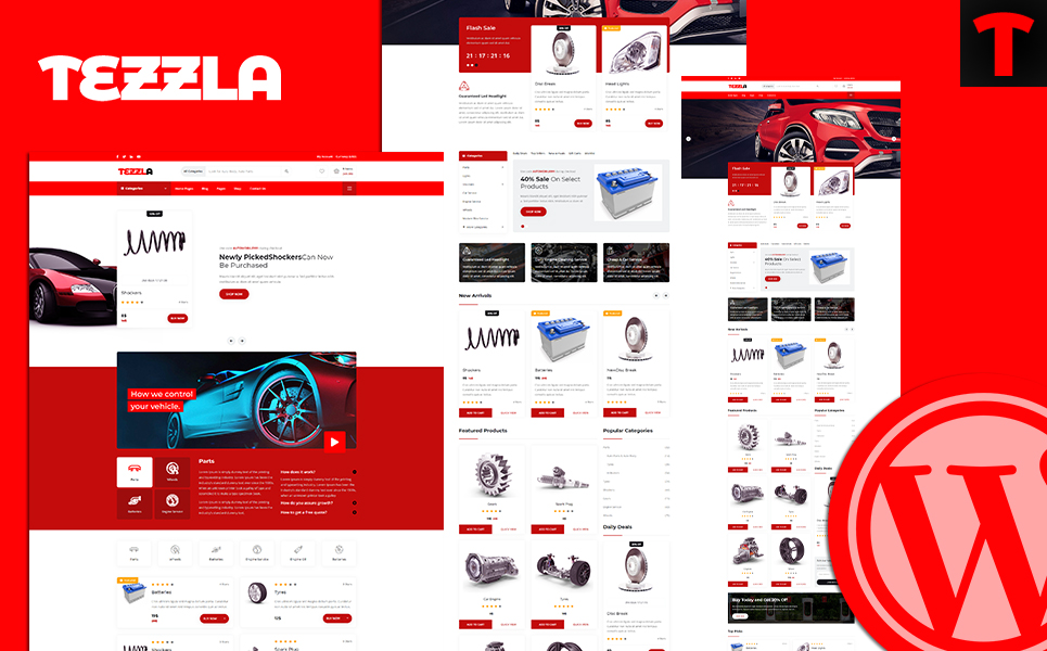 Tezzla | Automobile & Car Accessories Shop WordPress Theme