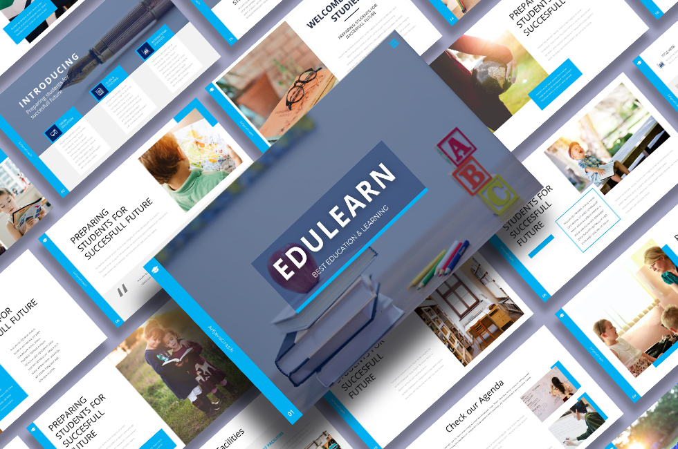Edulearn - Education And Learning PowerPoint Template