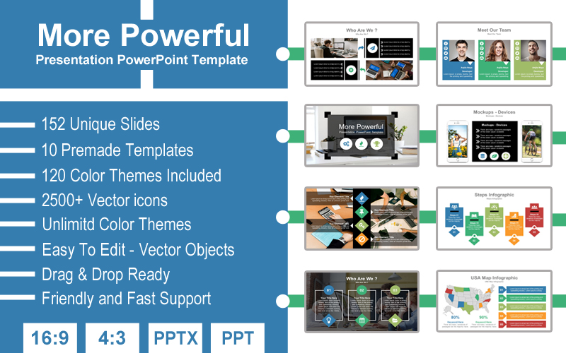 More Powerful Presentation PowerPoint Template