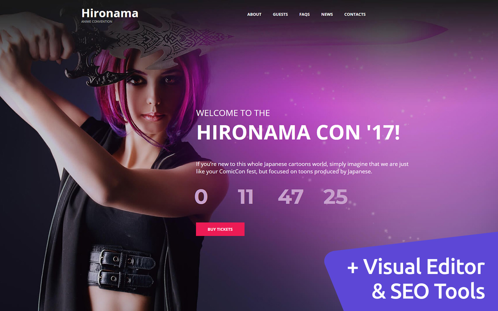 Hironama - Anime Moto CMS 3 Template