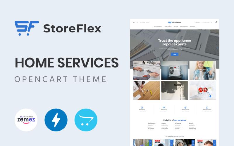 Storeflex Home Services OpenCart Template