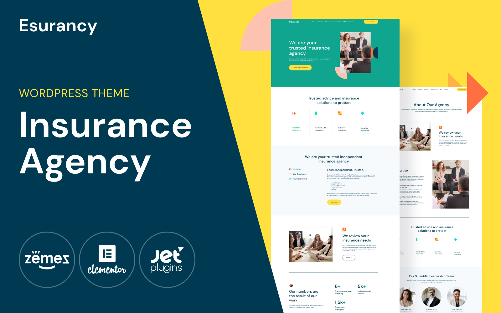 Esurancy - Insurance Agency Services WordPress Theme