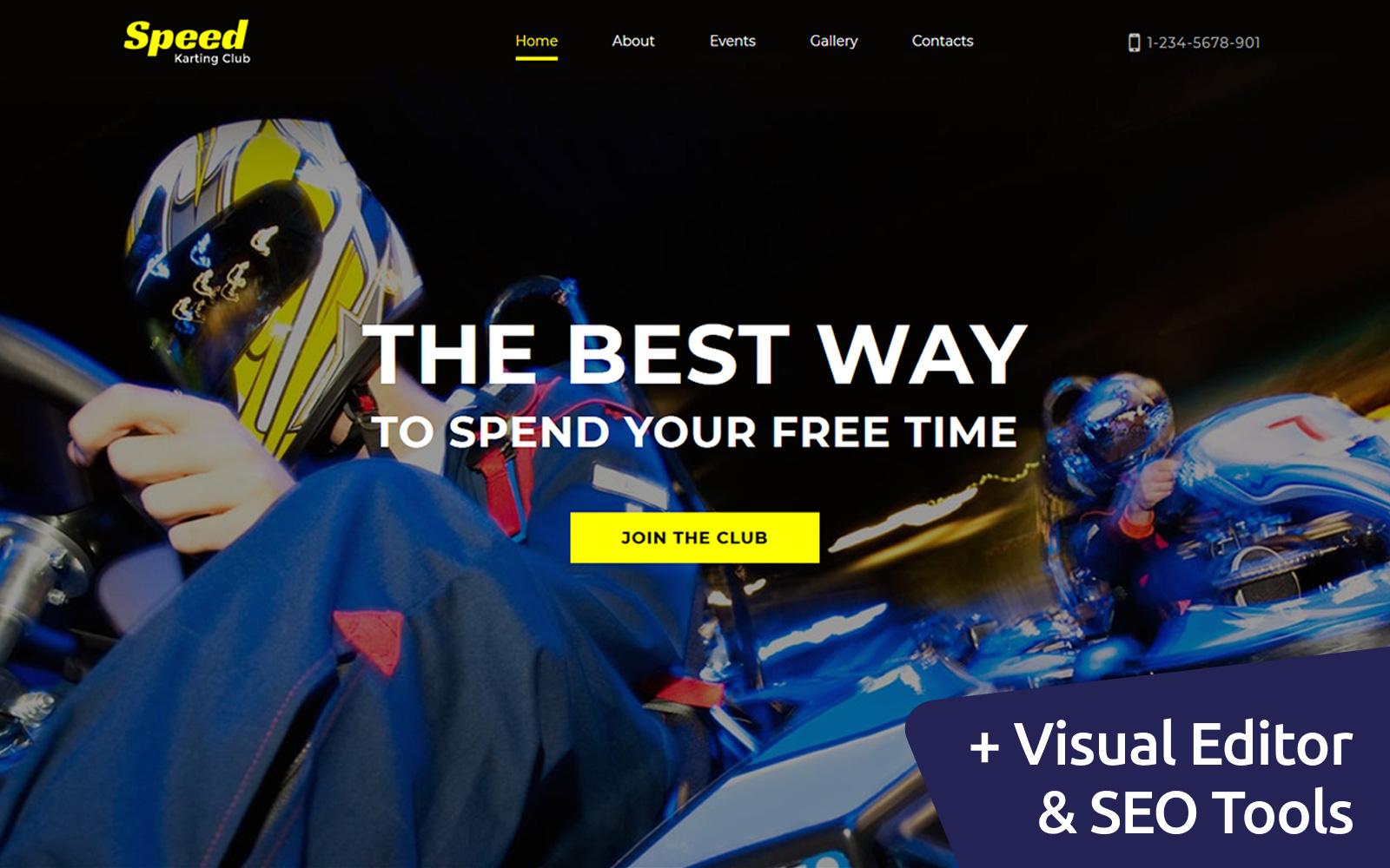 Karting Club Moto CMS 3 Template