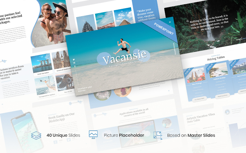 Vacansie – Travel Agency PowerPoint Template