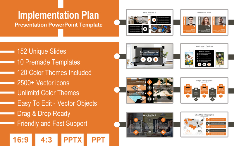 Implementation Plan Presentation PowerPoint Template