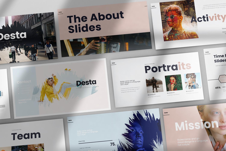 Desta Presentation PowerPoint Template