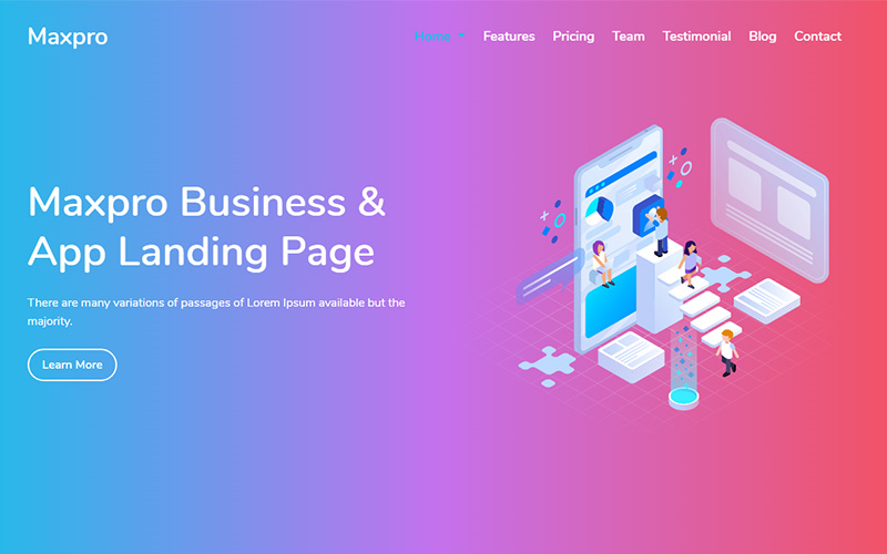 Maxpro - Business & App Landing Page Template