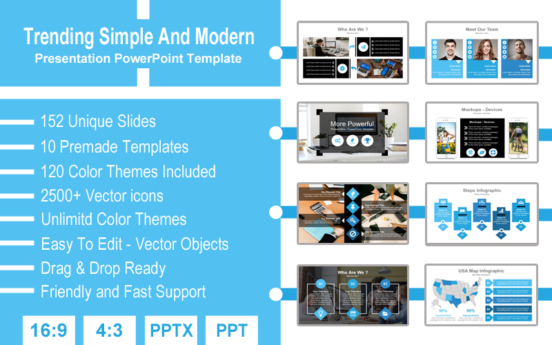 Trending Simple And Modern PowerPoint Template