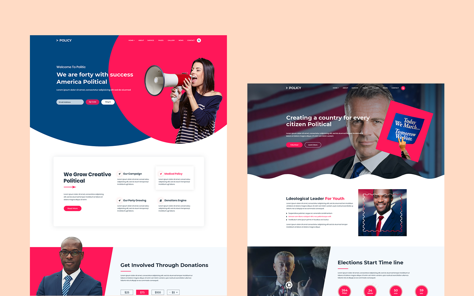 Policy -Political HTML Website Template