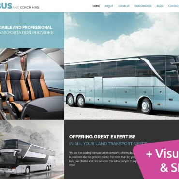 Template Transport Moto CMS 3 #115557