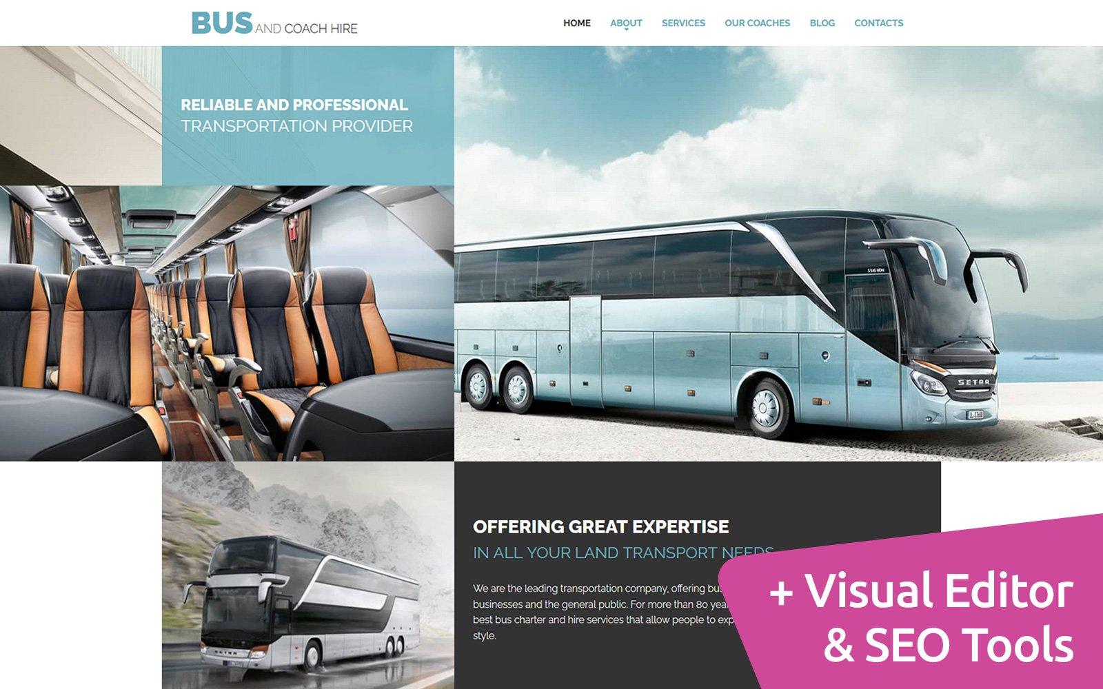 Bus Company Moto CMS 3 Template