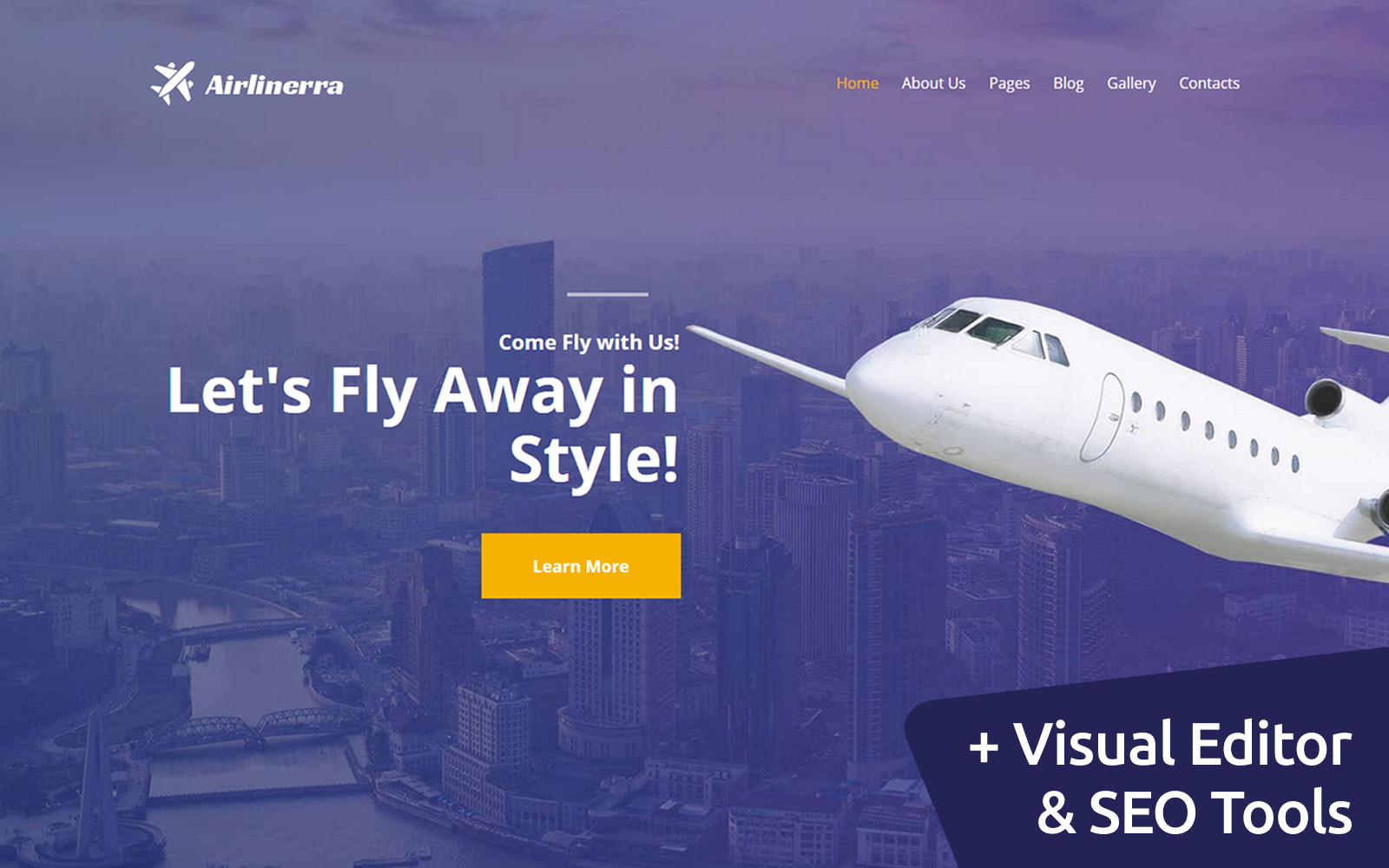 Airlinerra - Private Airline Moto CMS 3 Template