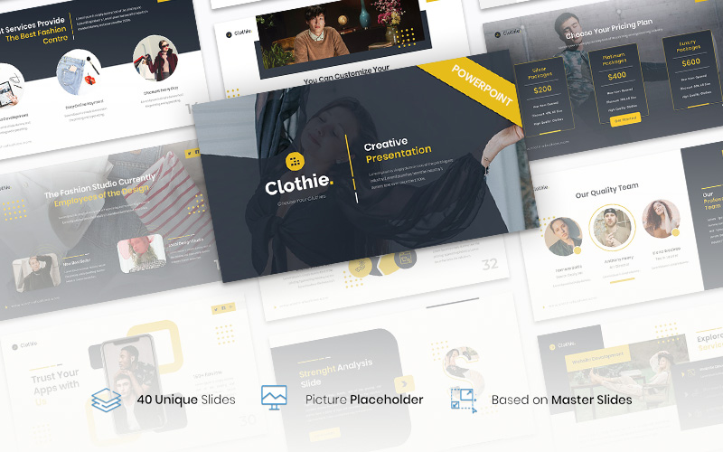 Clothie – Creative Business PowerPoint Template