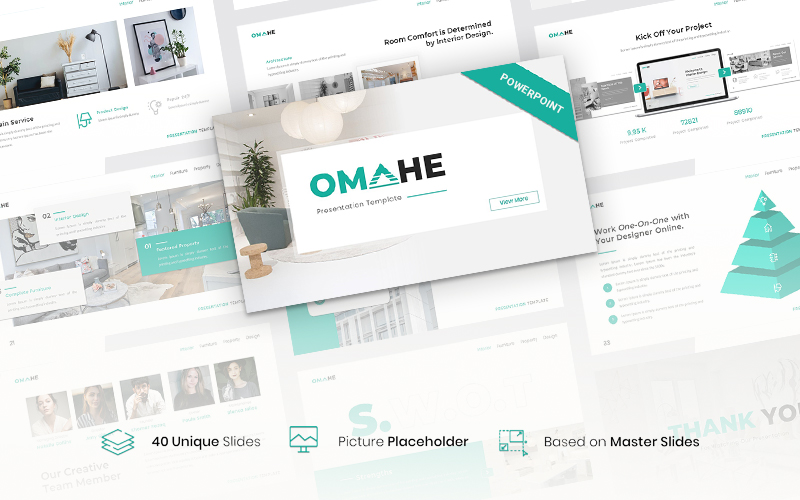 Omahe – Interior Design PowerPoint Template