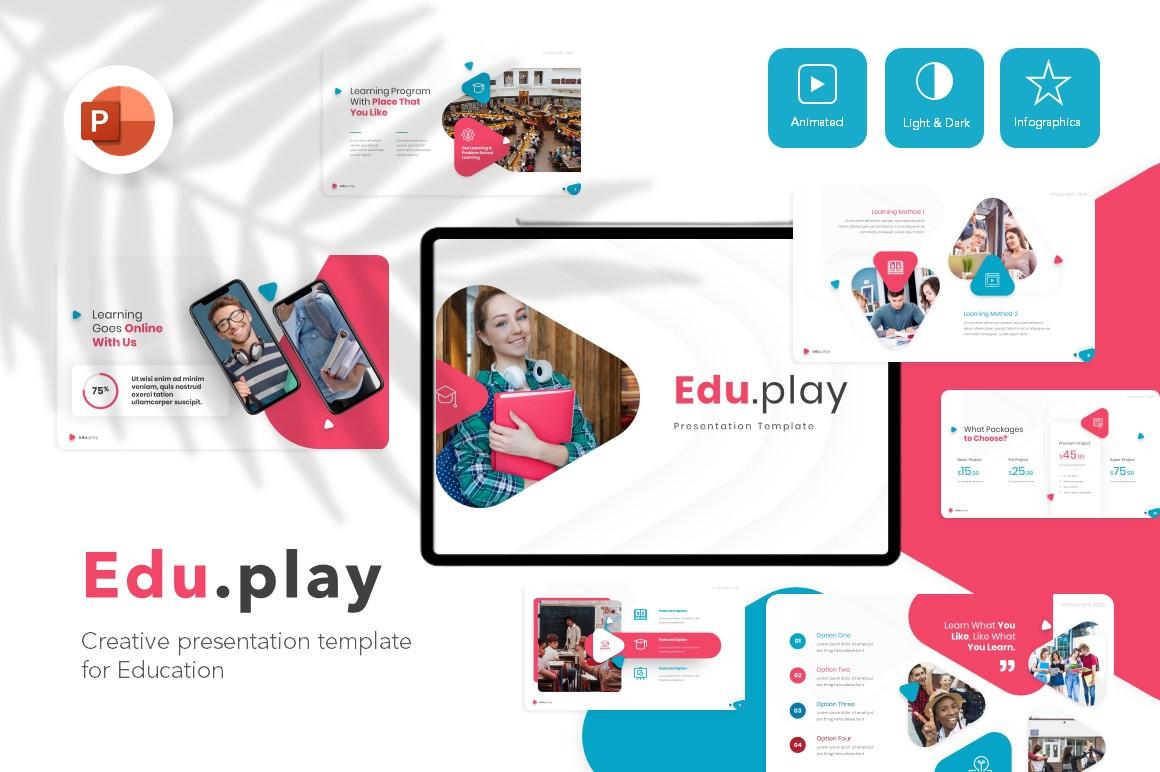 Eduplay Smart Education Presentation PowerPoint Template