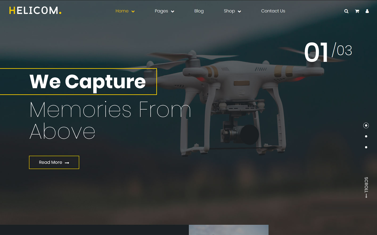 Helicom - drone and copter WordPress Theme