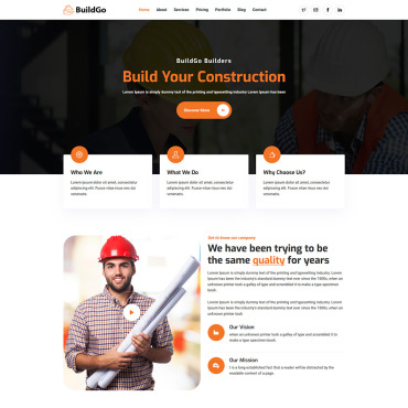 Template Industriale Landing Page #115958