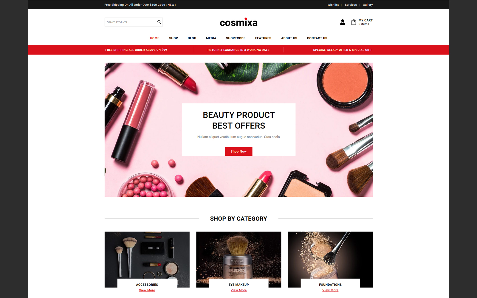 Cosmixa - Cosmetic and Fashion WooCommerce Theme
