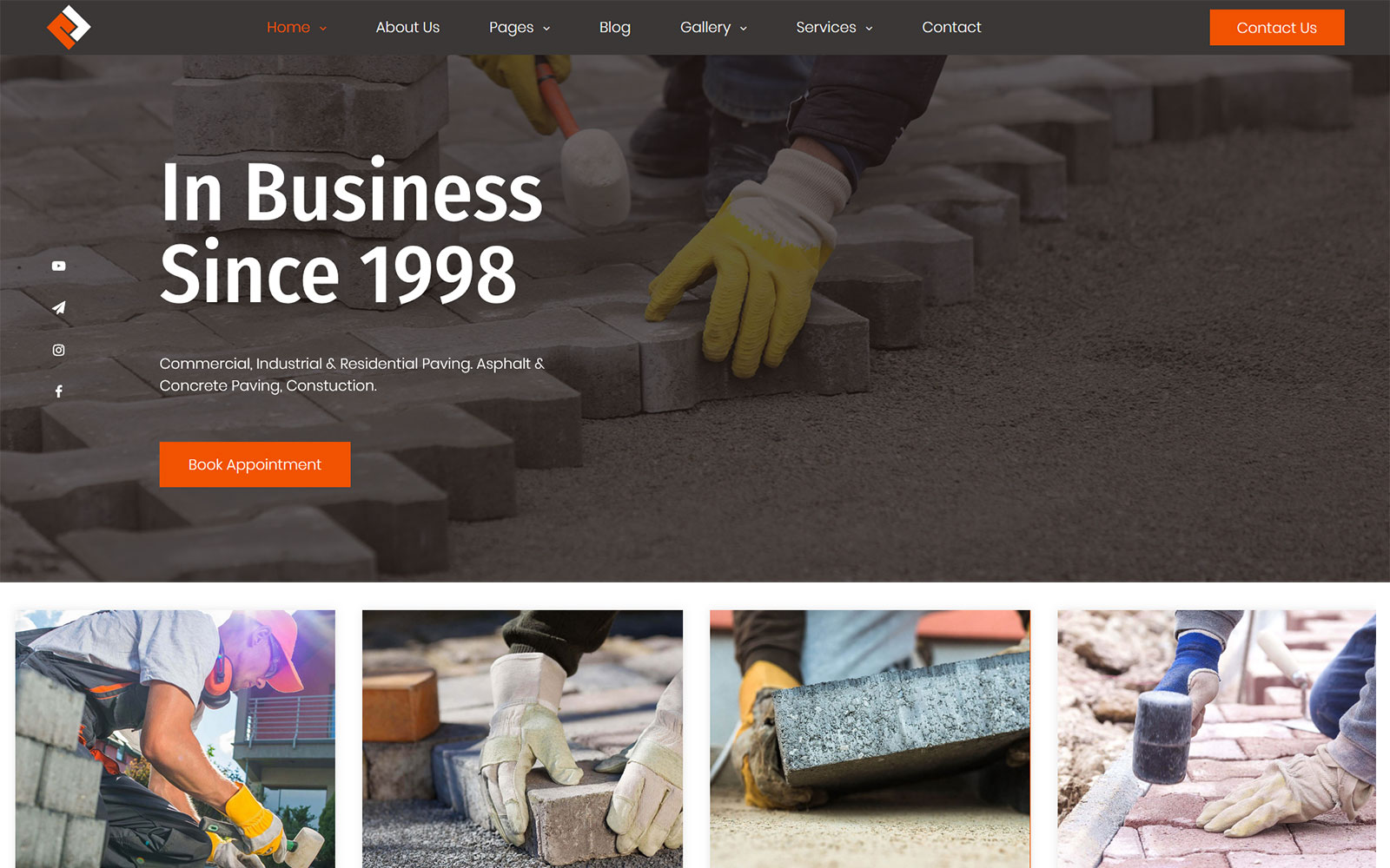 RockLane - Paving Contractor WordPress Theme