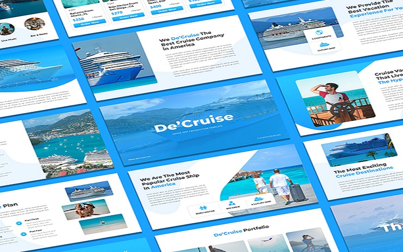 DeCruise - Cruise Ship PowerPoint Template