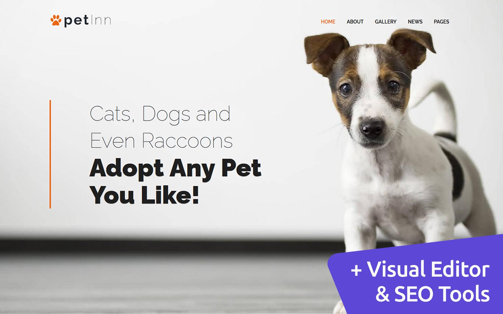PetInn - Animal Shelter Moto CMS 3 Template