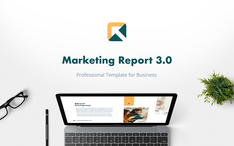 Marketing Report 3.0 PowerPoint Template