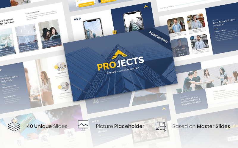 Projects - IT Company PowerPoint Template
