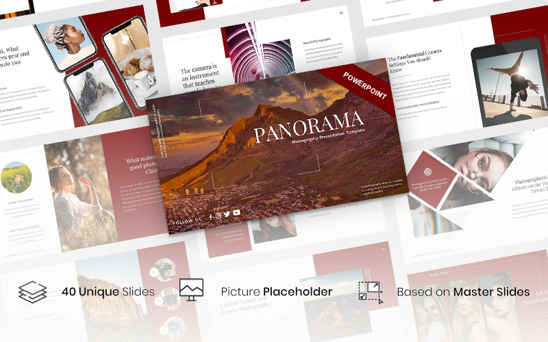 Panorama - Photography Presentation PowerPoint Template
