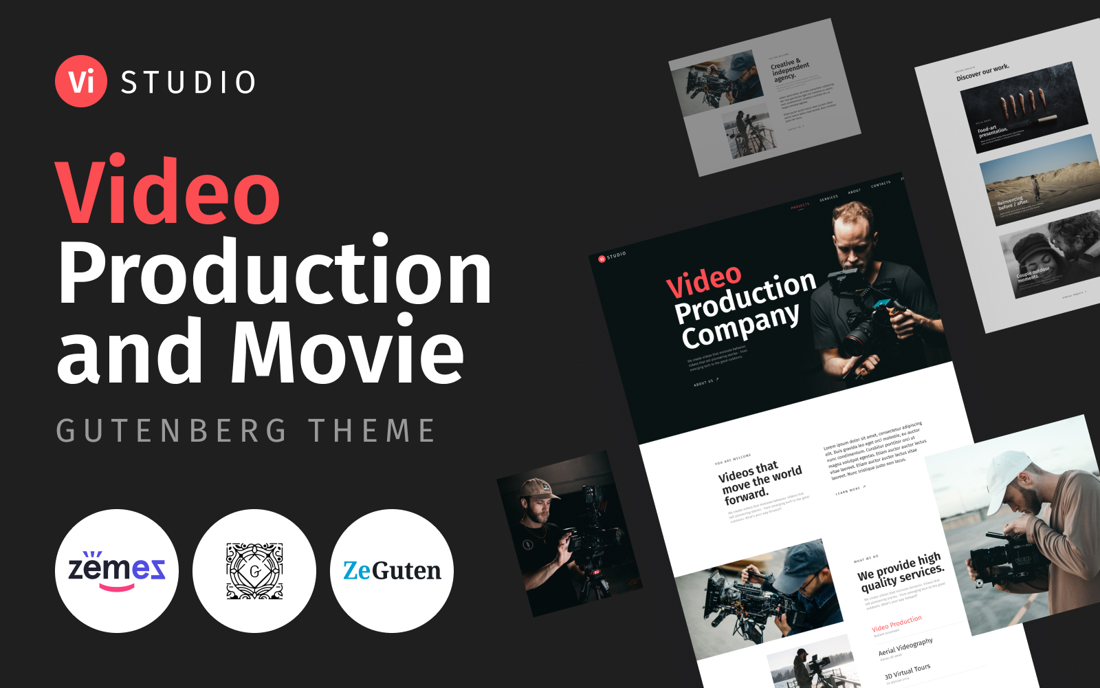 Vistudio - Video Production and Movie WordPress Theme