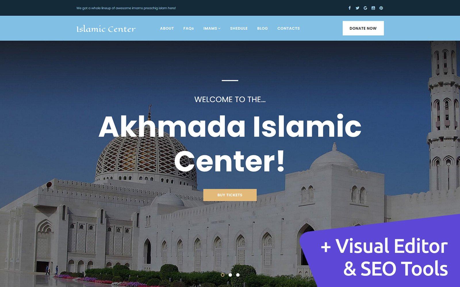 Islamic Center Moto CMS 3 Template
