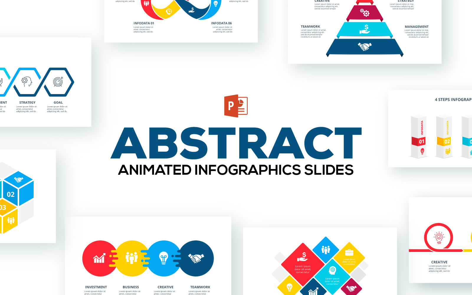 Abstract Animated Infographics Presentations PowerPoint Template