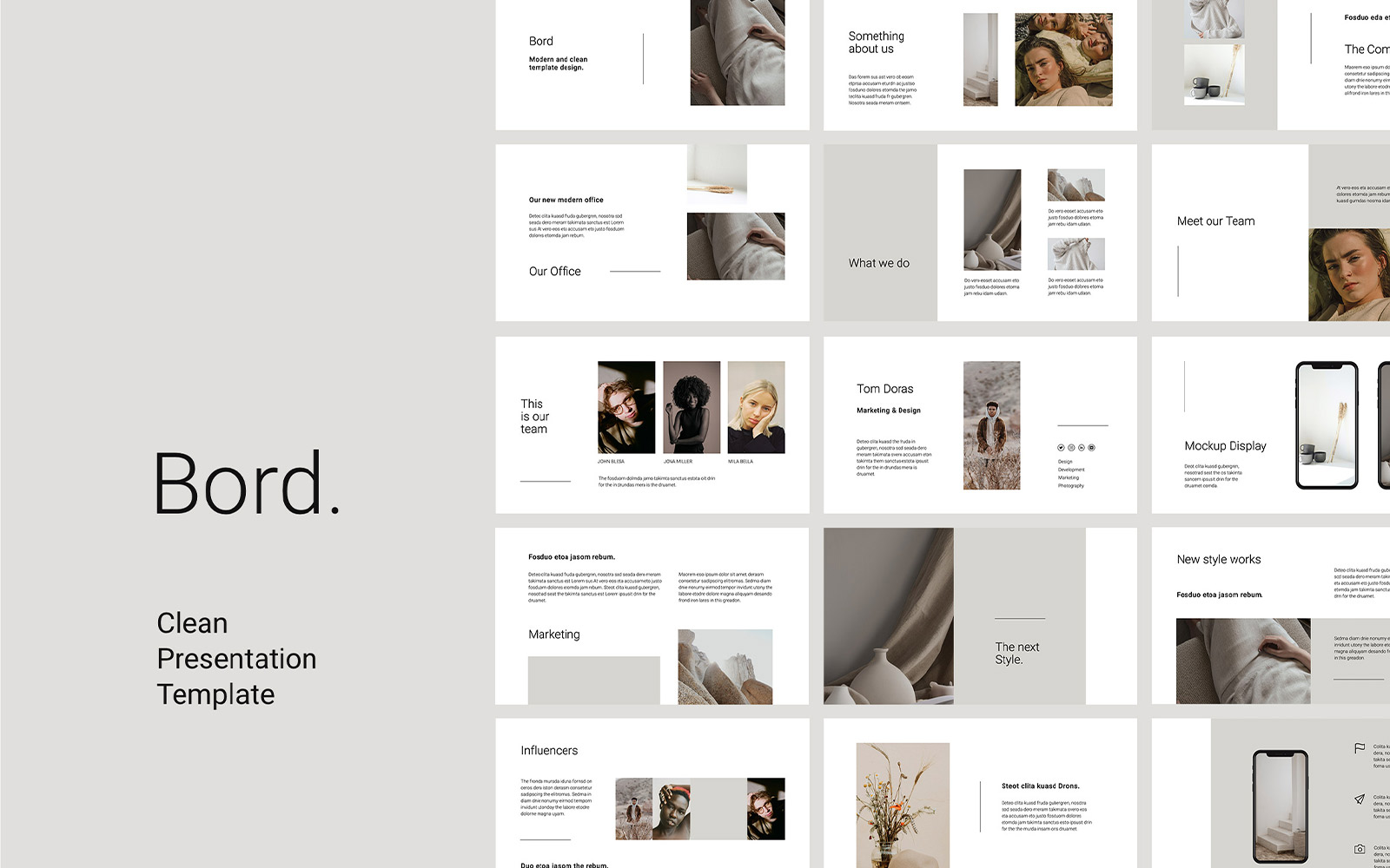 BORD Presentation PowerPoint Template