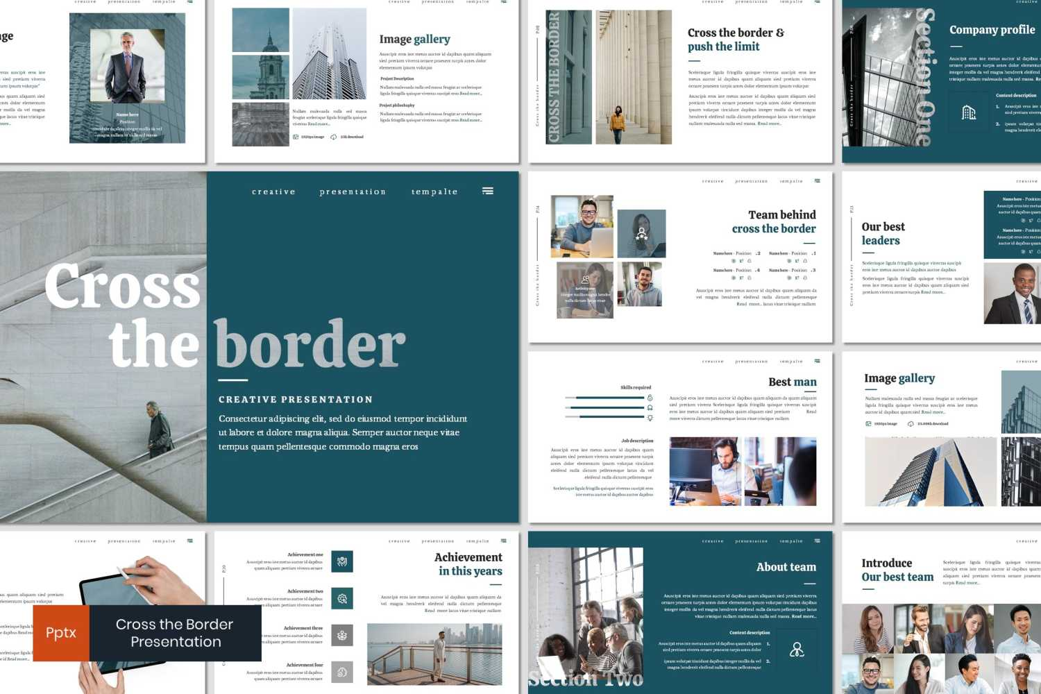 Cross The Border PowerPoint Template