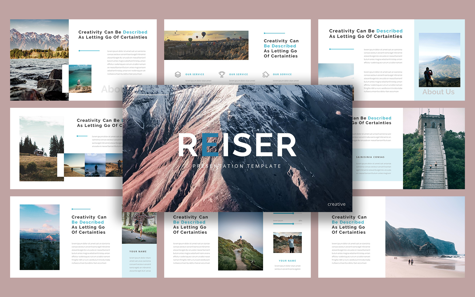 Reiser Hiking PowerPoint Template