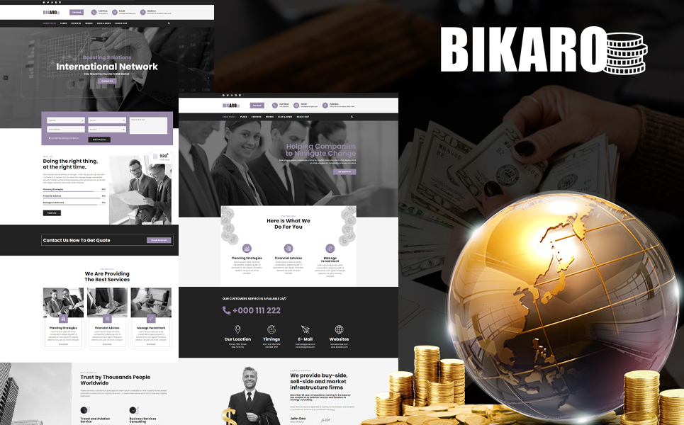 Bikaro - Financial WordPress Theme