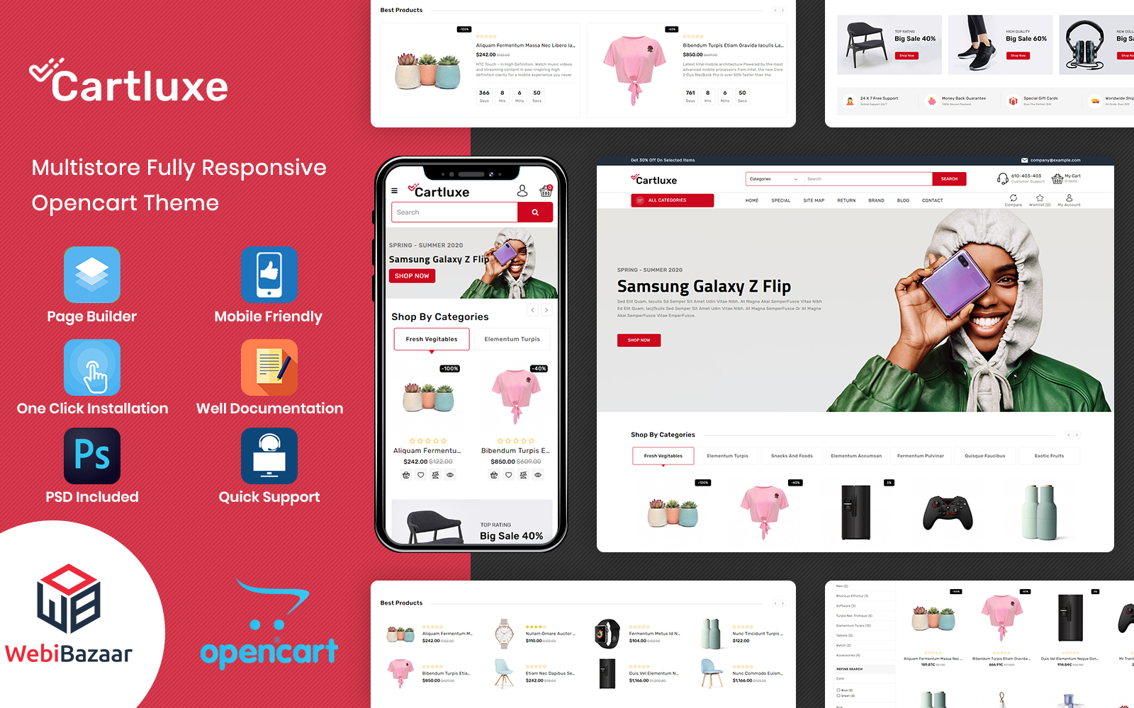 CartLuxe - Supermarket Multipurpose OpenCart Template