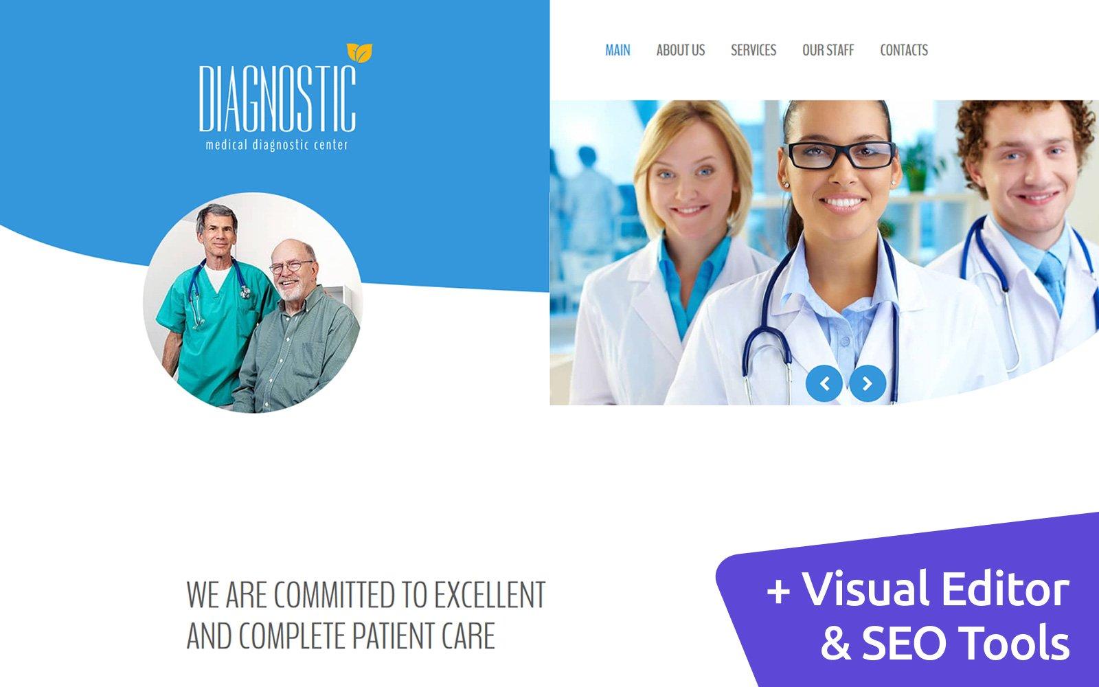 Medical Diagnostic Center Moto CMS 3 Template
