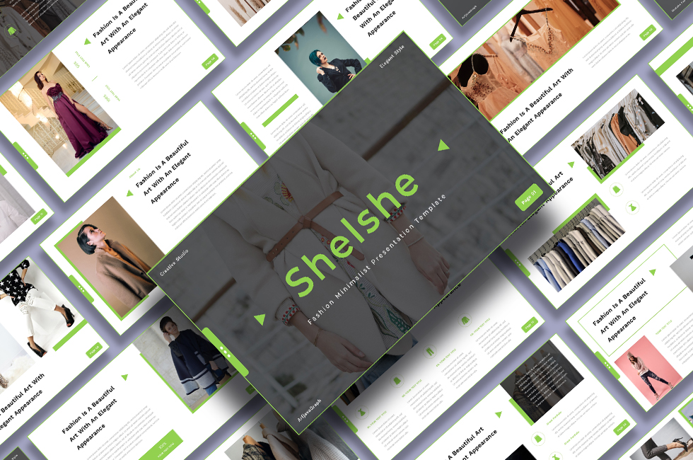 Shelshe - Fashion Minimalist PowerPoint Template