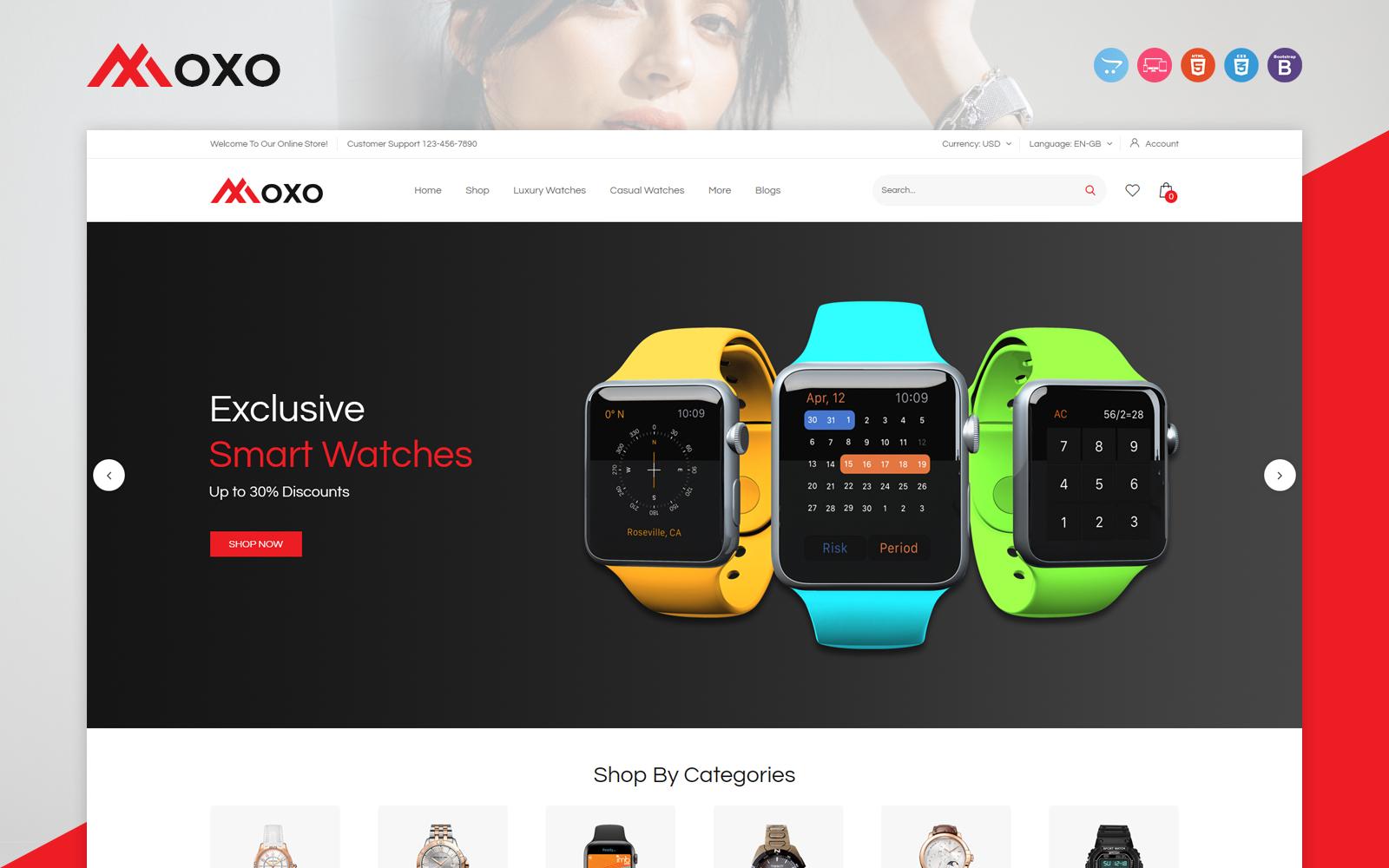 Moxo - Watch OpenCart Template