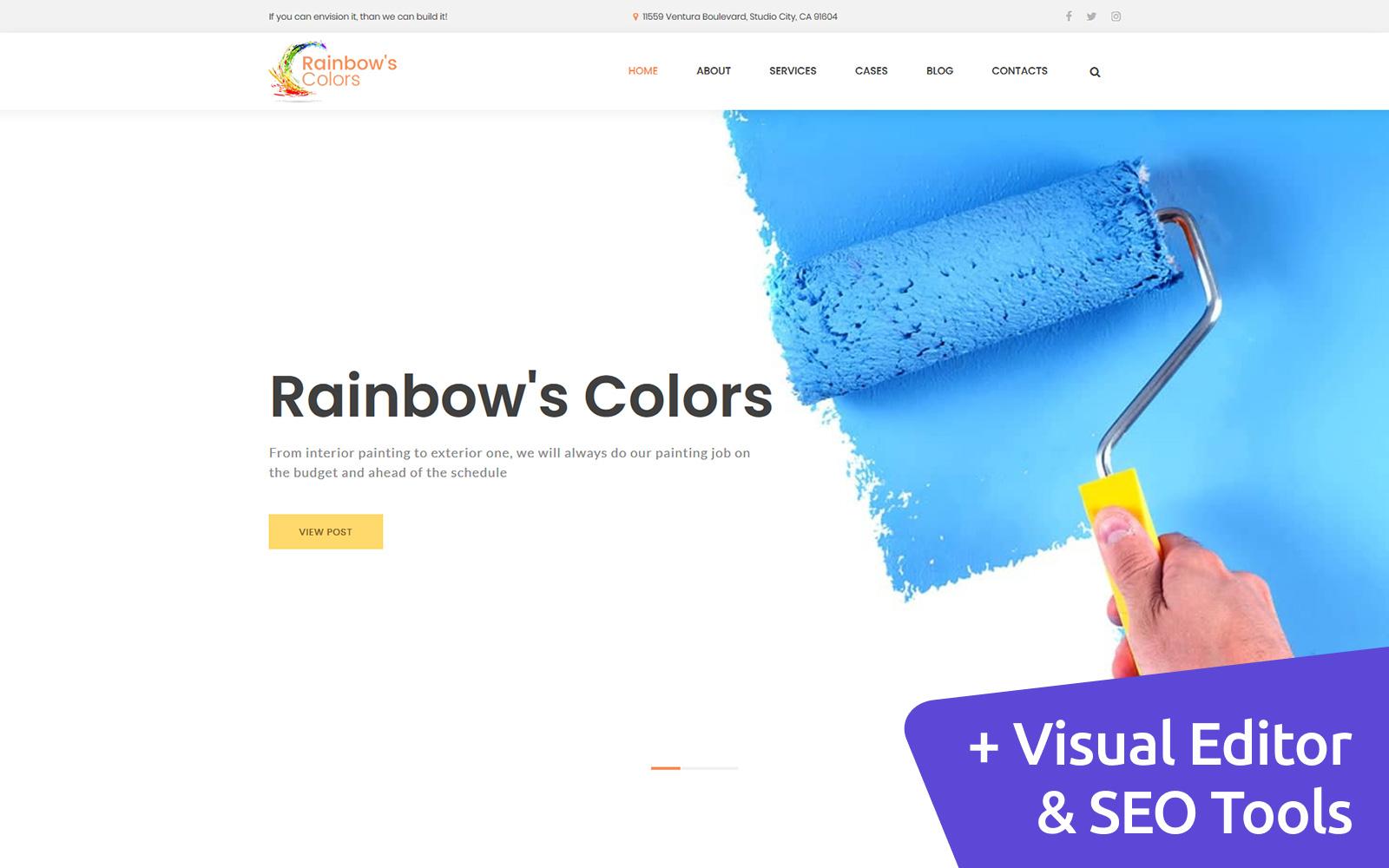 Rainbow's - Painting Company Moto CMS 3 Template