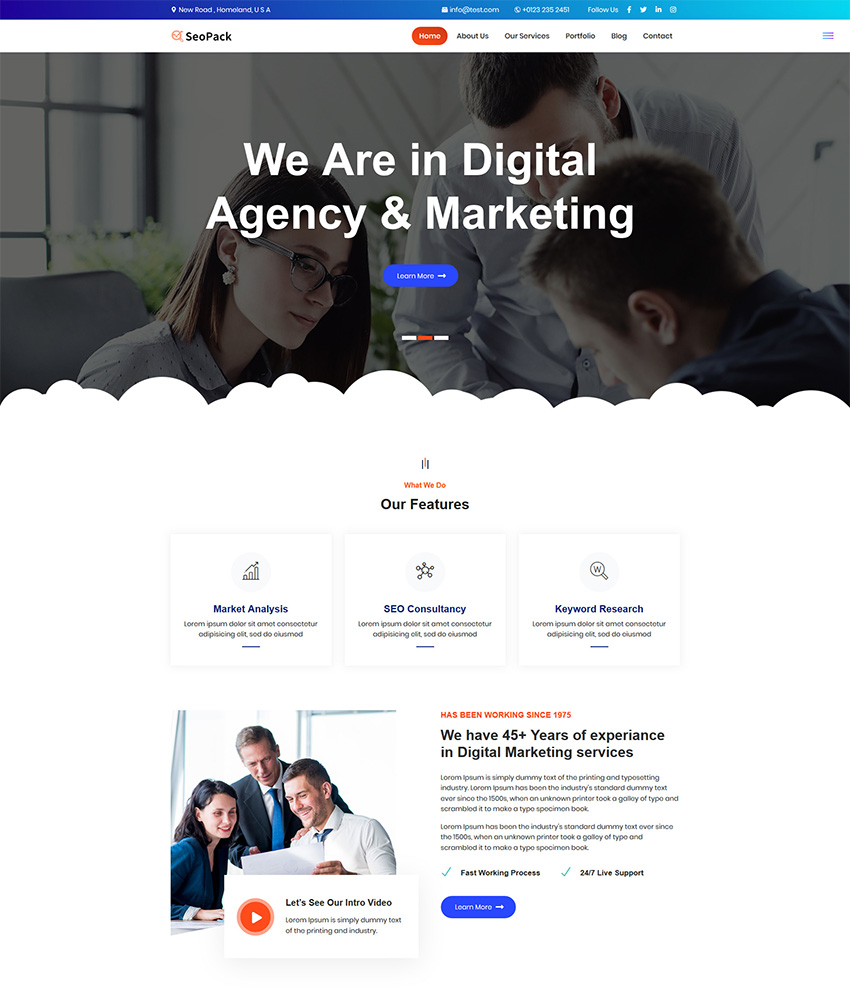 SeoPack Landing Page Template