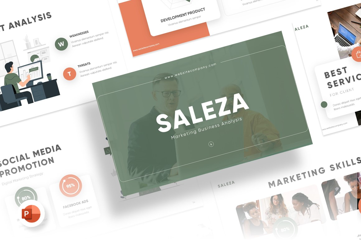 Saleza Marketing Presentation PowerPoint Template