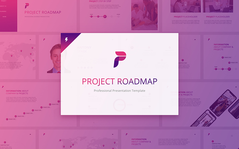 Project Roadmap PowerPoint Template