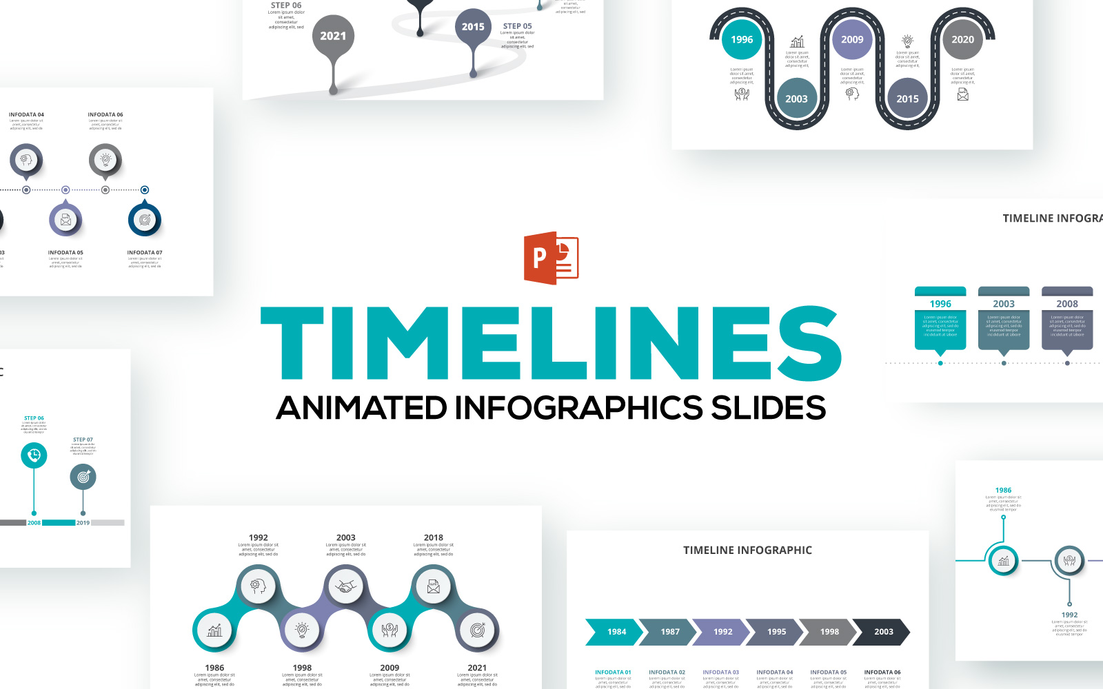 Timelines Animated Infographics PowerPoint Template