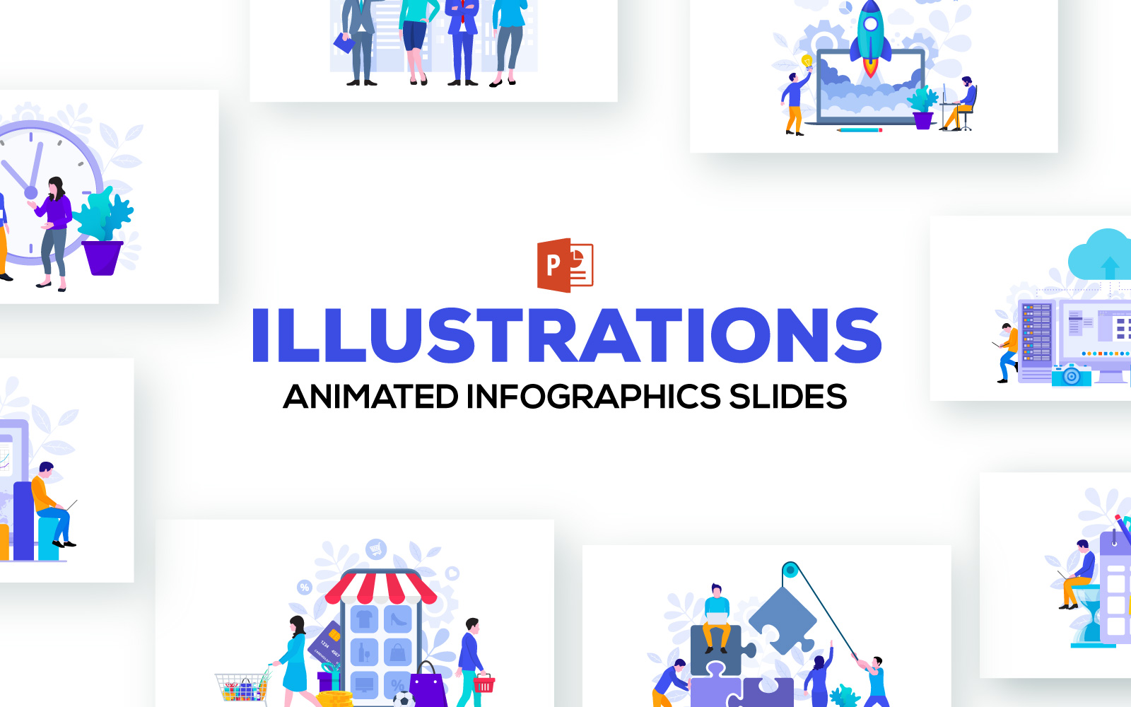 Animated Infographics Presentations PowerPoint Template