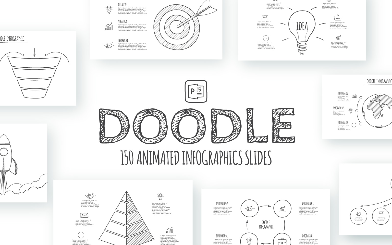 Doodle Animated Infographics PowerPoint Template