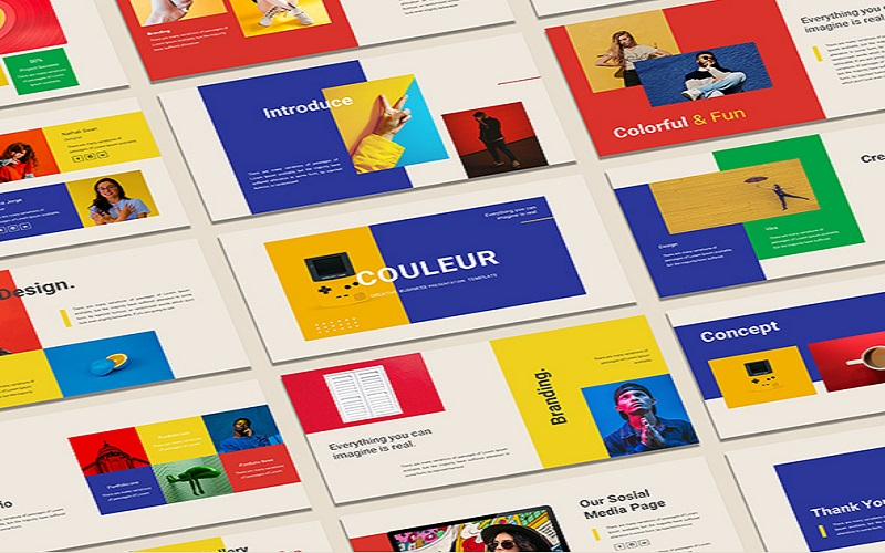 Couleur - Colorful Peresentation PowerPoint Template